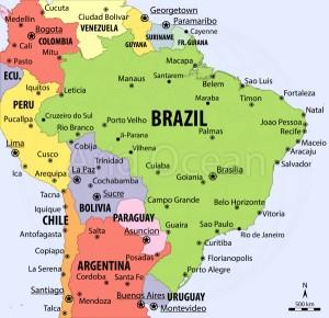 Brazil, political map