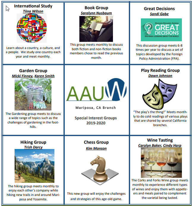 2019 Special Interest Groups